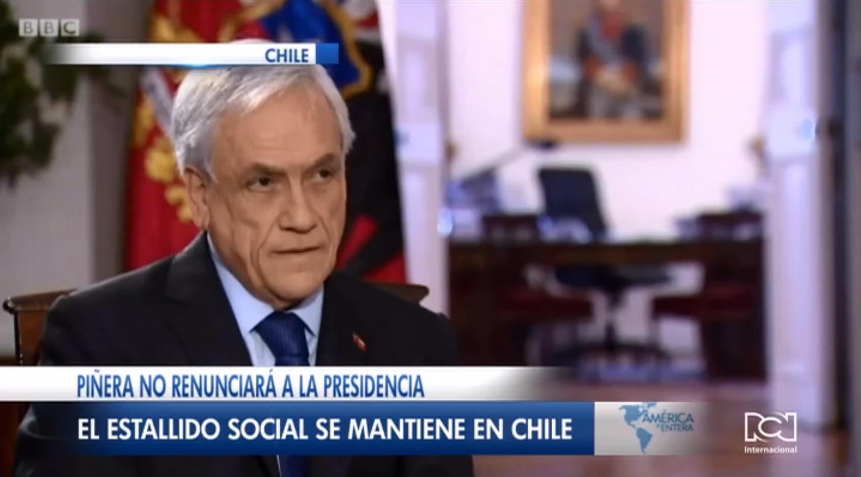 Piñera descarta su renuncia pese a que los chilenos protestan por tercera semana exigiendo su dimisión