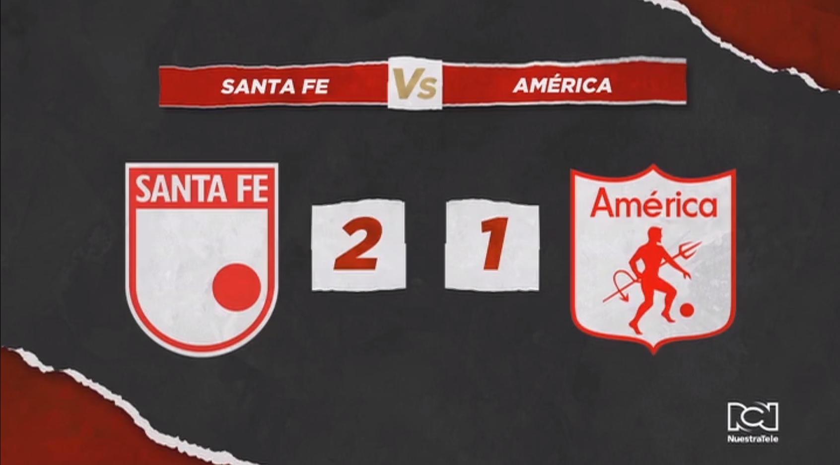 Independiente Santa Fe inició con pie derecho los cuadrangulares al derrotar al América