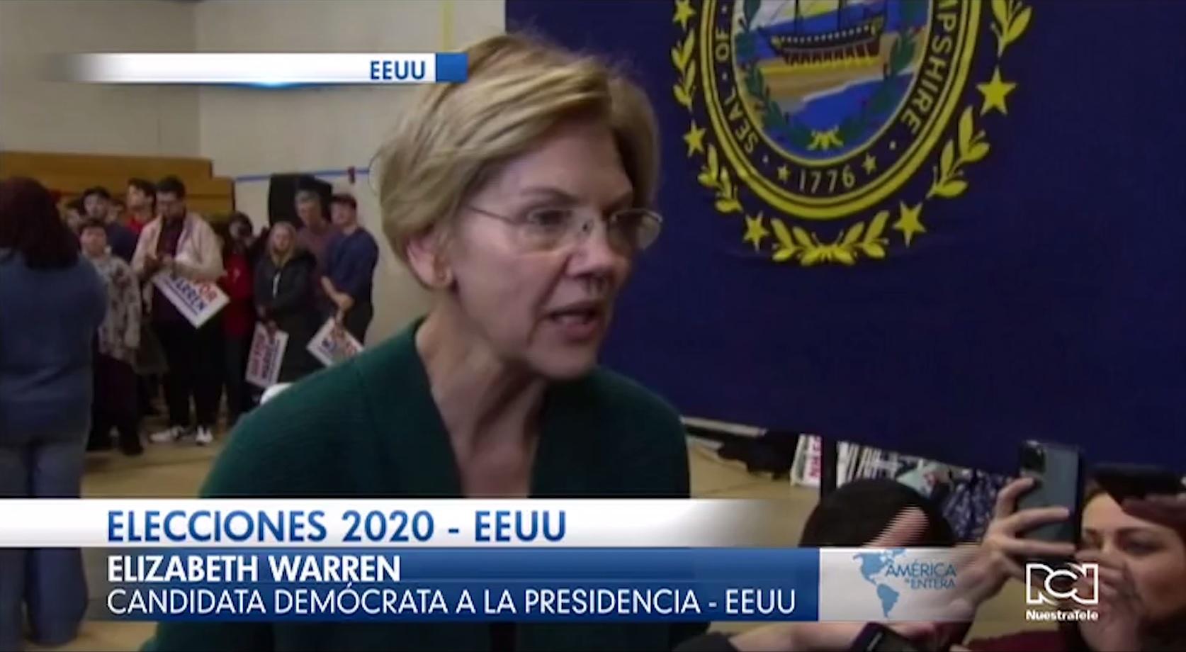 Elizabeth Warren criticó postulación de Bloomberg a las primarias demócratas