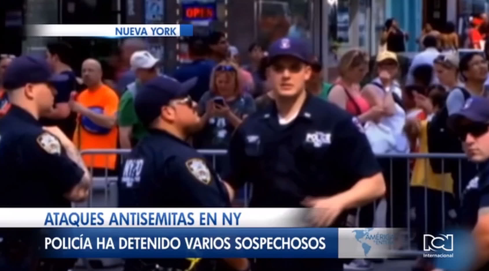 Reportan seis incidentes de ataques de odio contra la comunidad judía en Nueva York