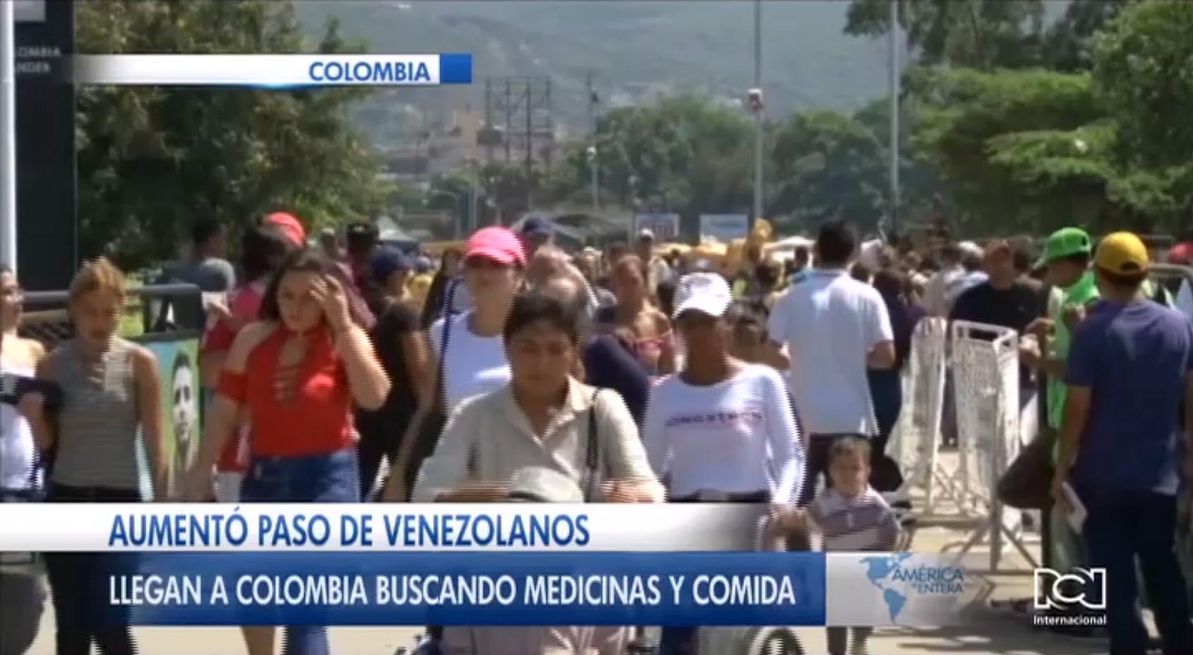 Aumenta el paso de venezolanos a Colombia