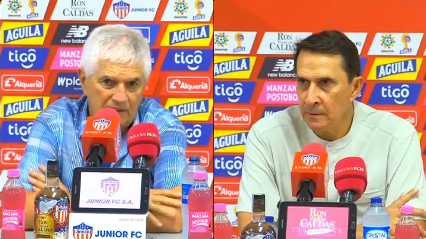 Impresiones de Julio Avelino Comesaña y Alexandre Guimaraes sobre la ida de la final de la Liga Águila
