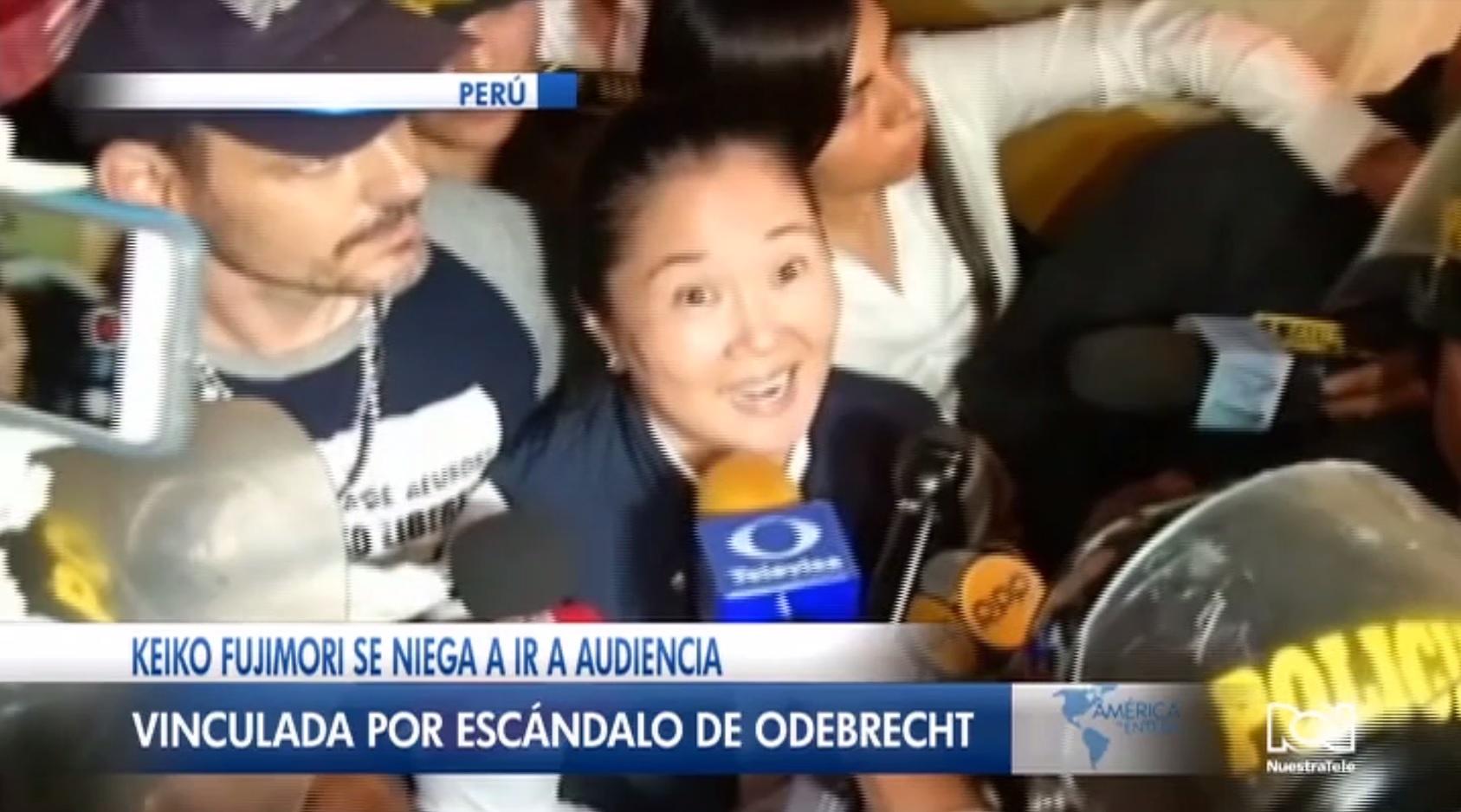 Keiko Fujimori no asistió a la audiencia de pedido de prisión preventiva en su contra