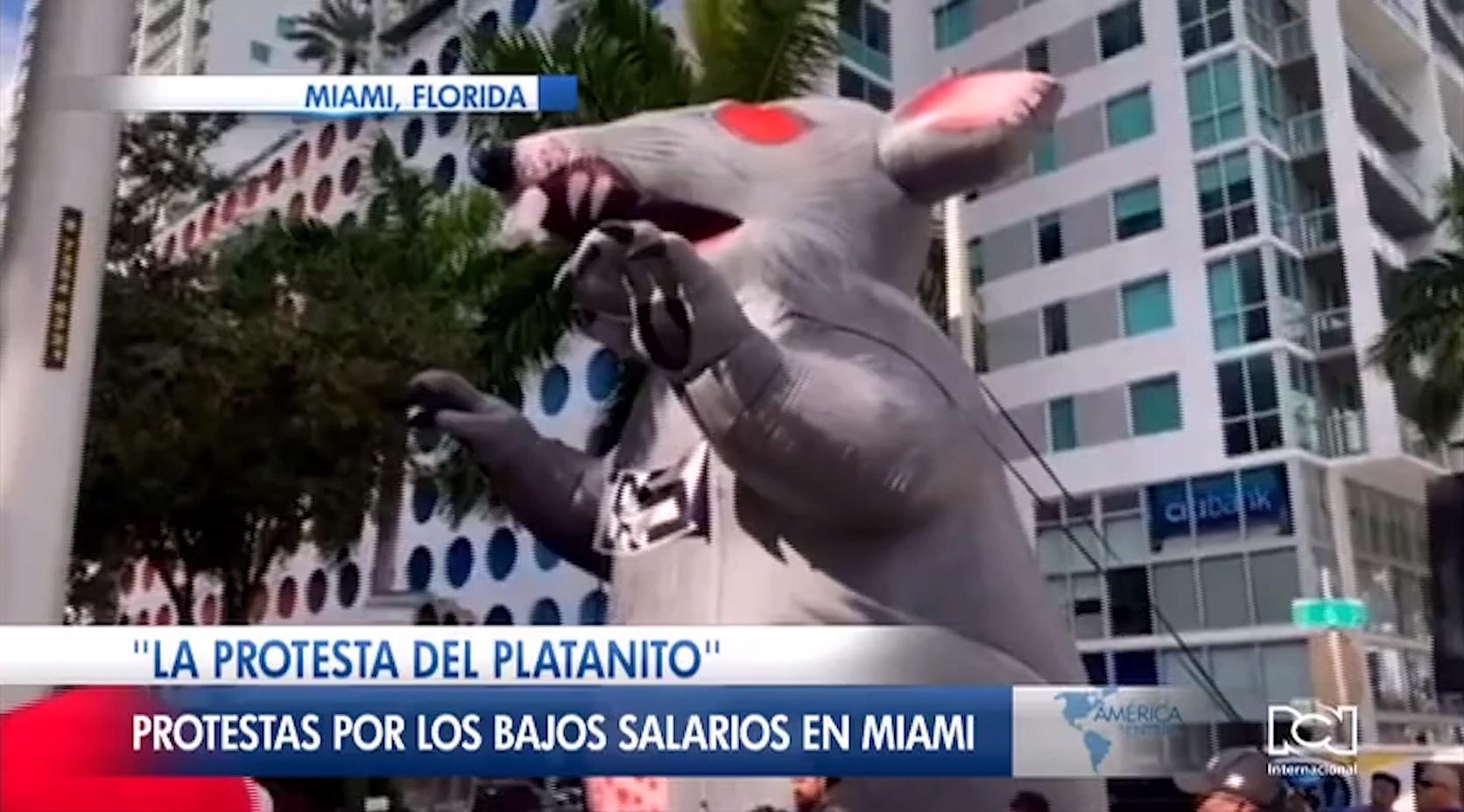Así fue 'La protesta del platanito' realizada por trabajadores domésticos en Miami