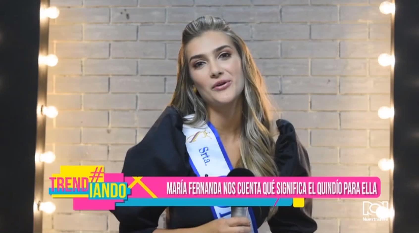 Mano a mano con María Fernanda Aristizábal sobre el Reinado Nacional de Belleza