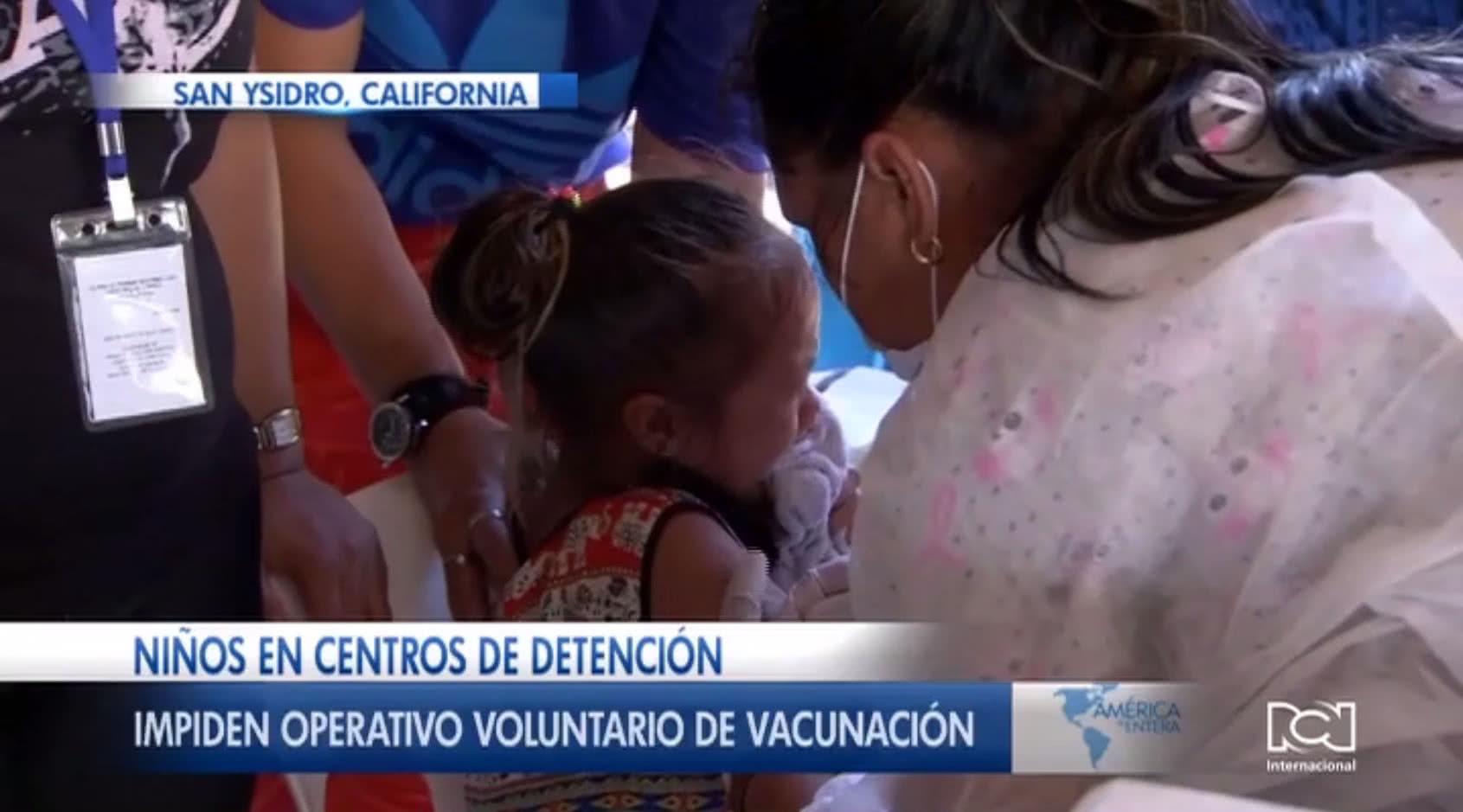 Patrulla Fronteriza de Estados Unidos impidió jornada de vacunación a niños migrantes