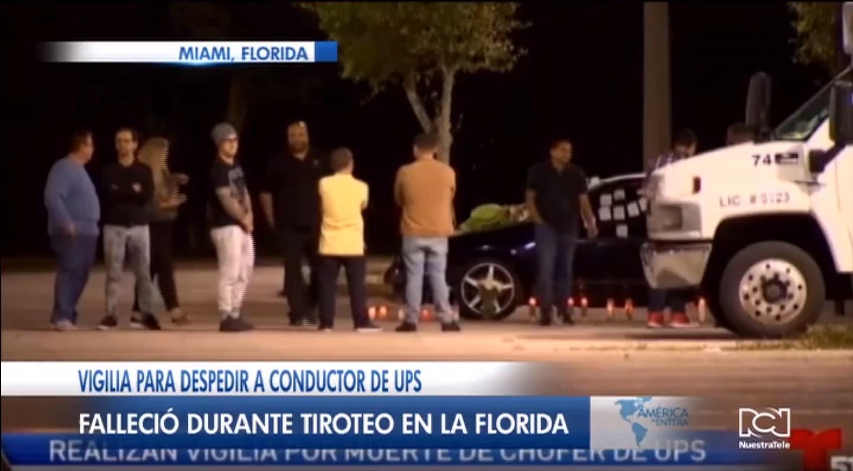 Realizan vigilia en honor al migrante ecuatoriano que murió en medio de una persecución policial en Florida