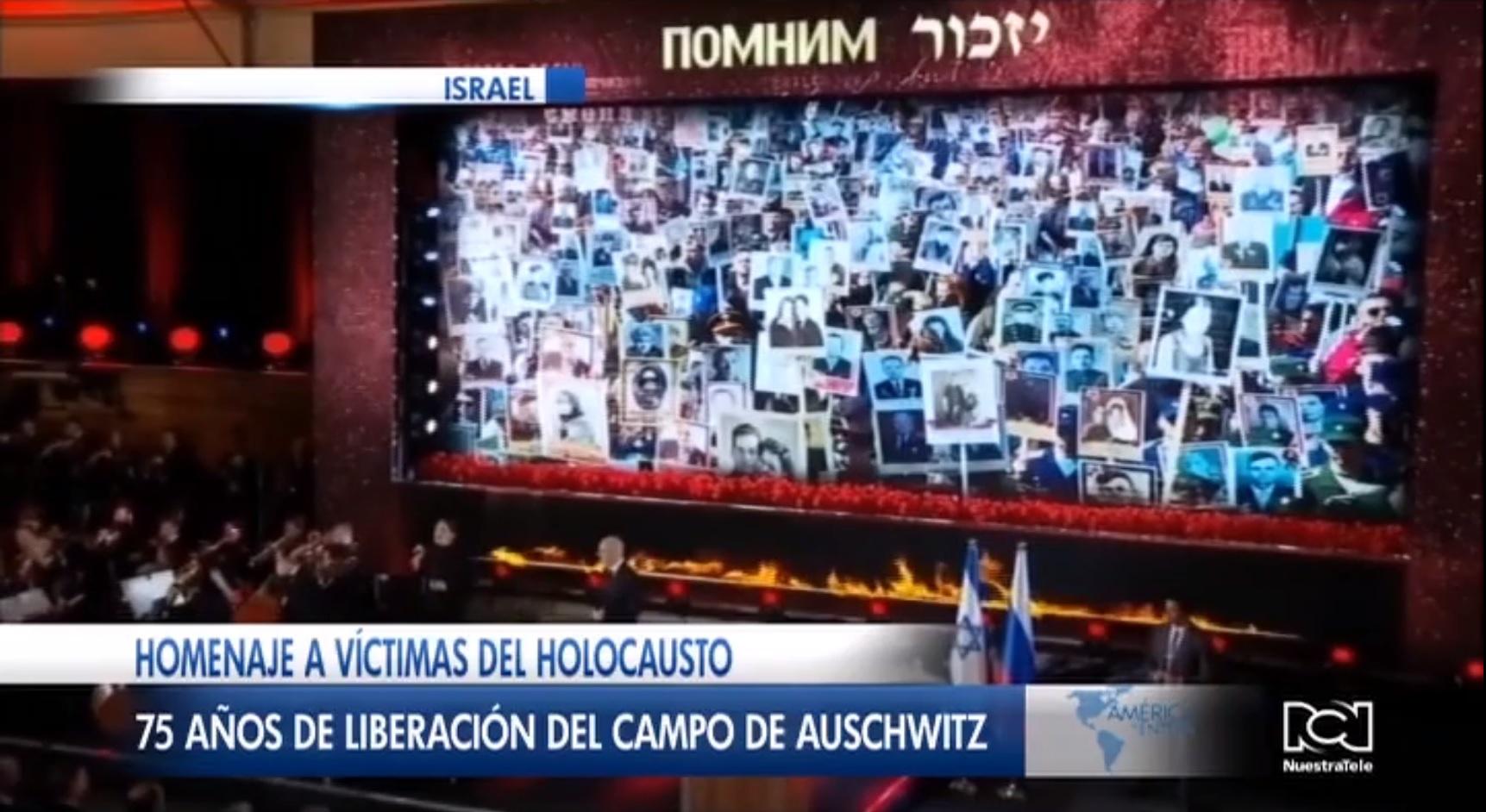 Víctimas del holocausto fueron homenajeadas durante el 75 aniversario de la liberación de Auschwitz