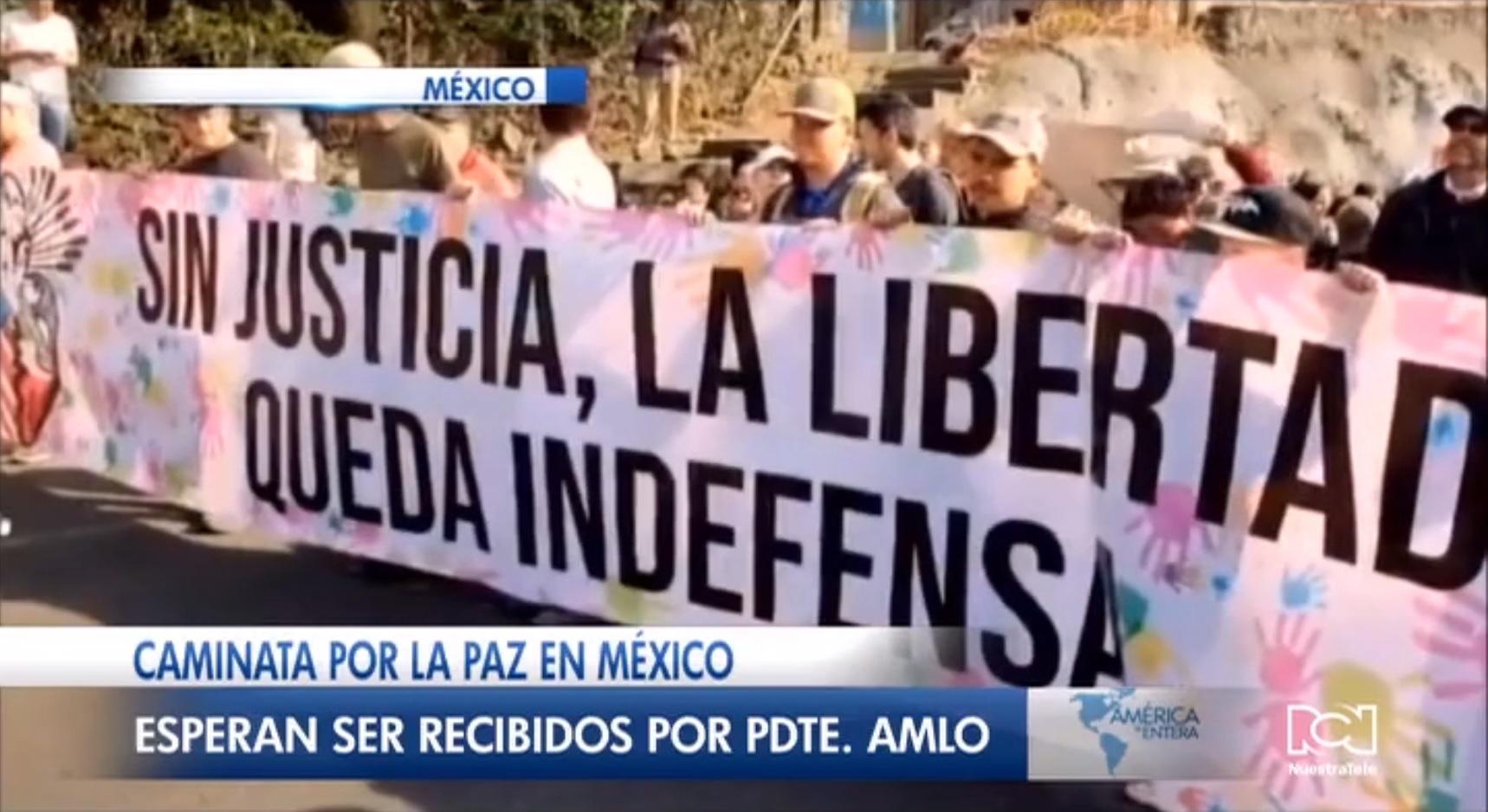 AMLO no quiere que la 'caminata por la verdad, la justicia y la paz' se convierta en un show mediático