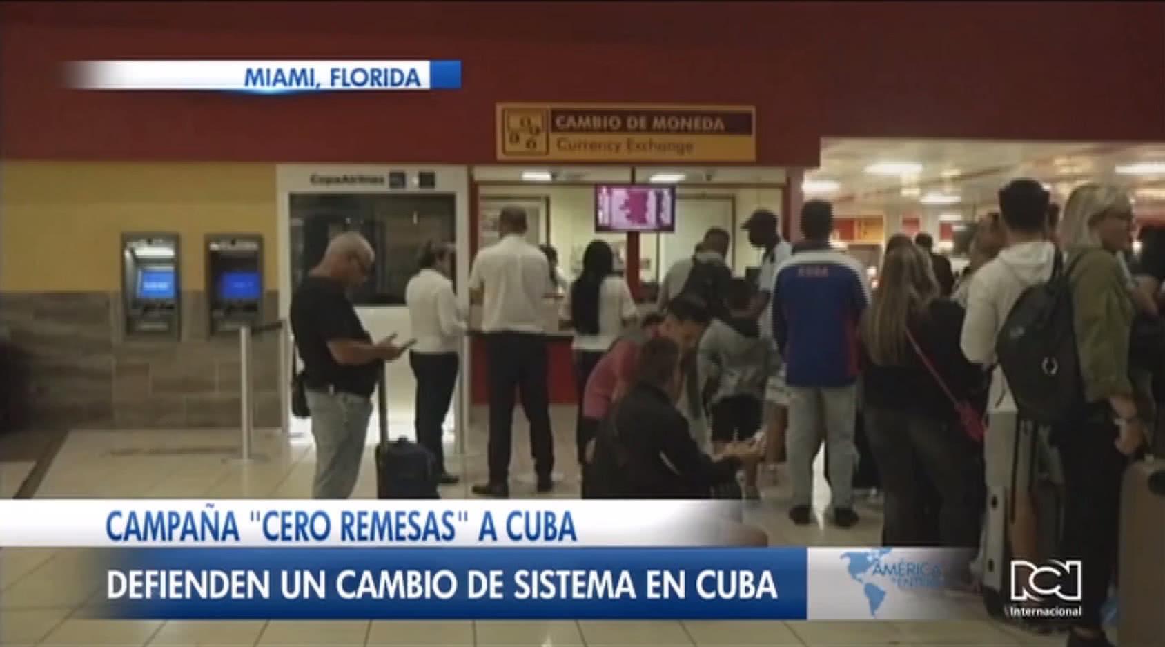 Exilio cubano impulsa la campaña 'Cero Remesas' para presionar por un cambio en el sistema político de la isla