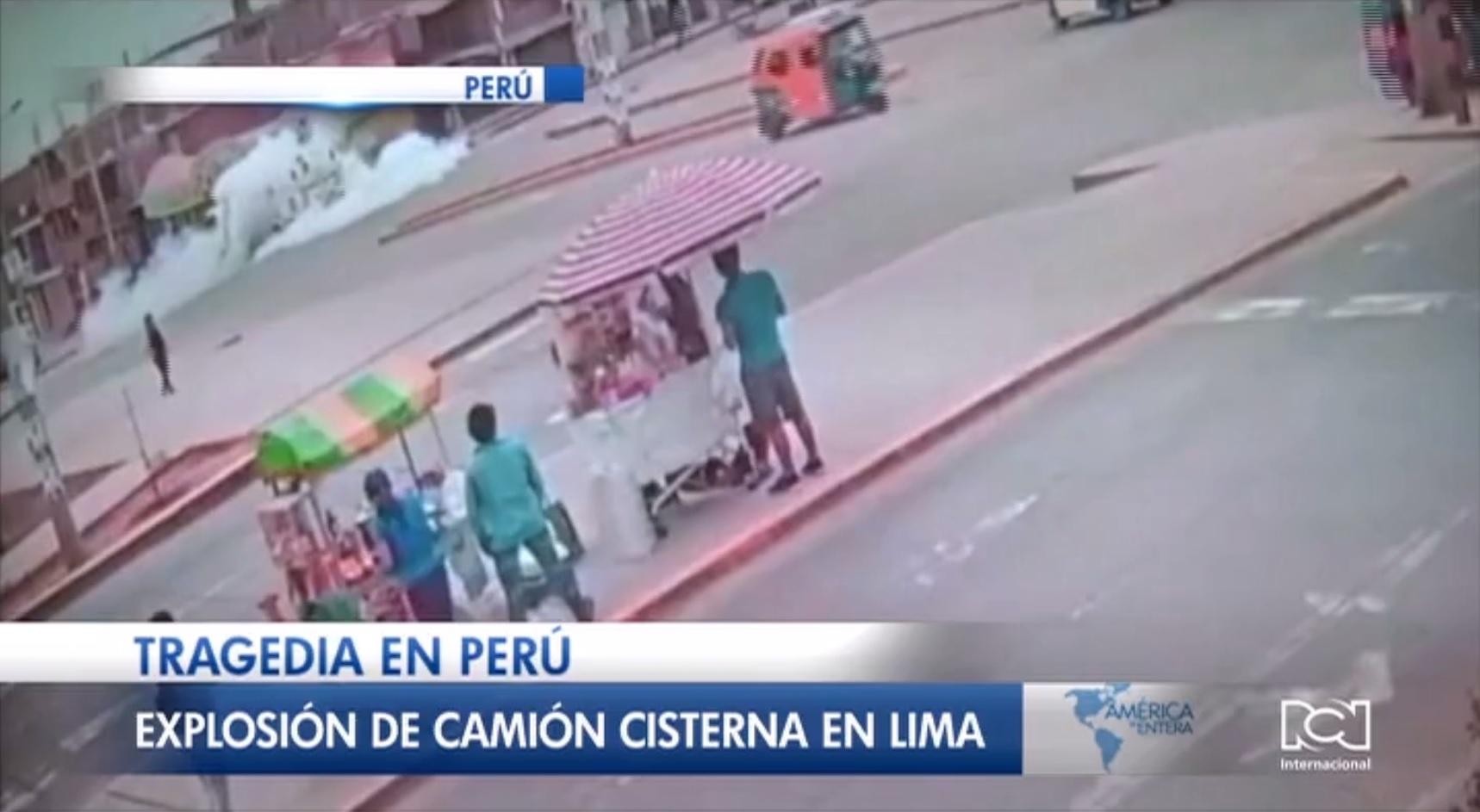 Explosión de un camión cisterna deja tres muertos y más de 50 heridos en Lima