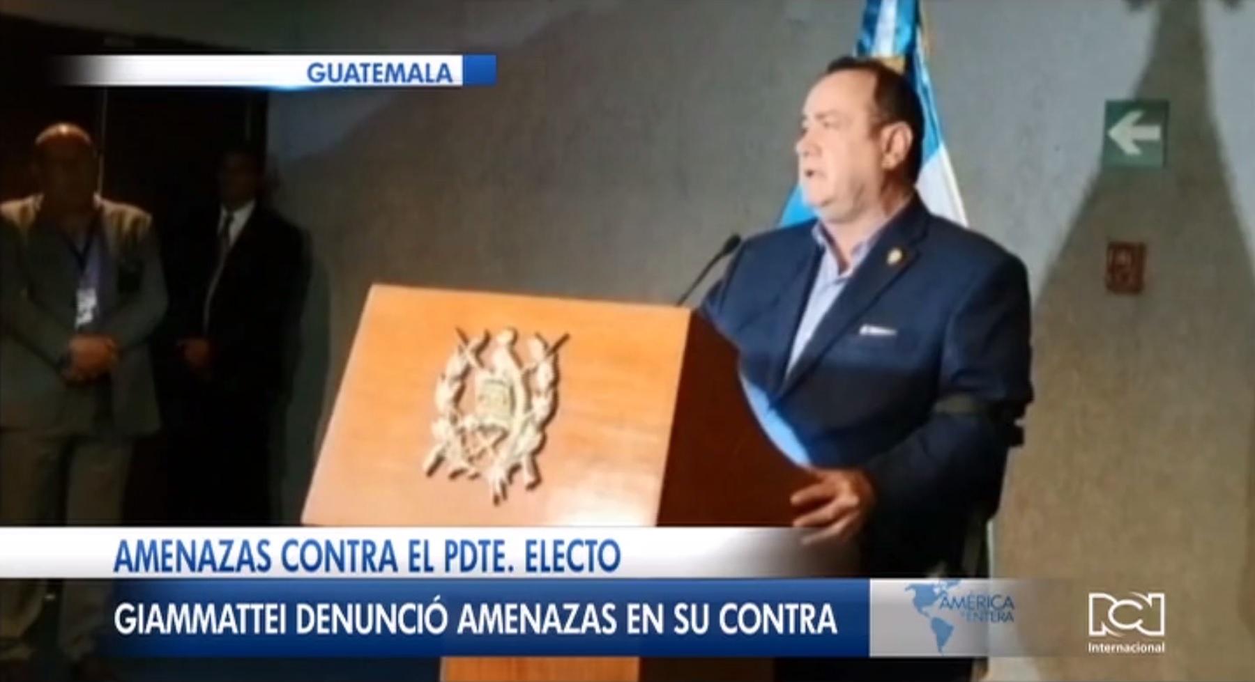 Alejandro Giammattei fue investido como nuevo presidente de Guatemala