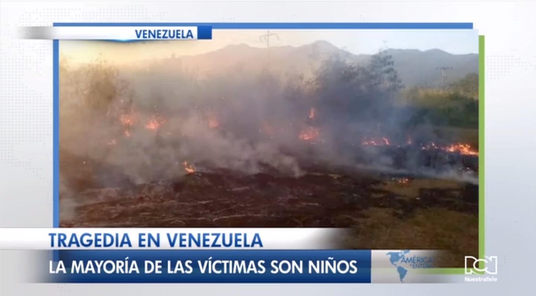Voraz incendio acaba con la vida de una decena de niños en Venezuela