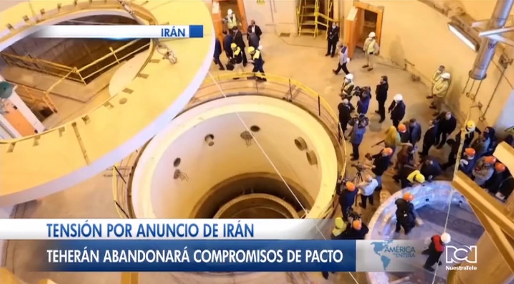 Irán confirma que abandonará compromisos del pacto nuclear tras muerte de Suleimani