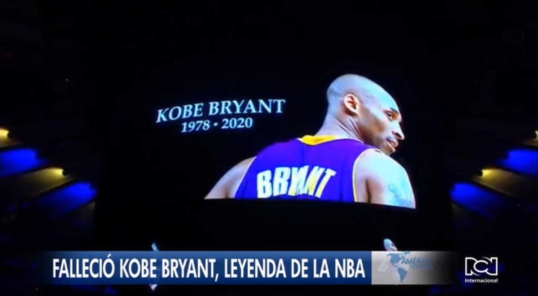 El mundo llora la muerte del basquetbolista estadounidense Kobe Bryant