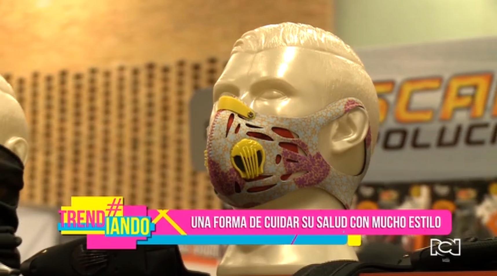 Colombiano crea la primera mascara antipolución con filtro de coco
