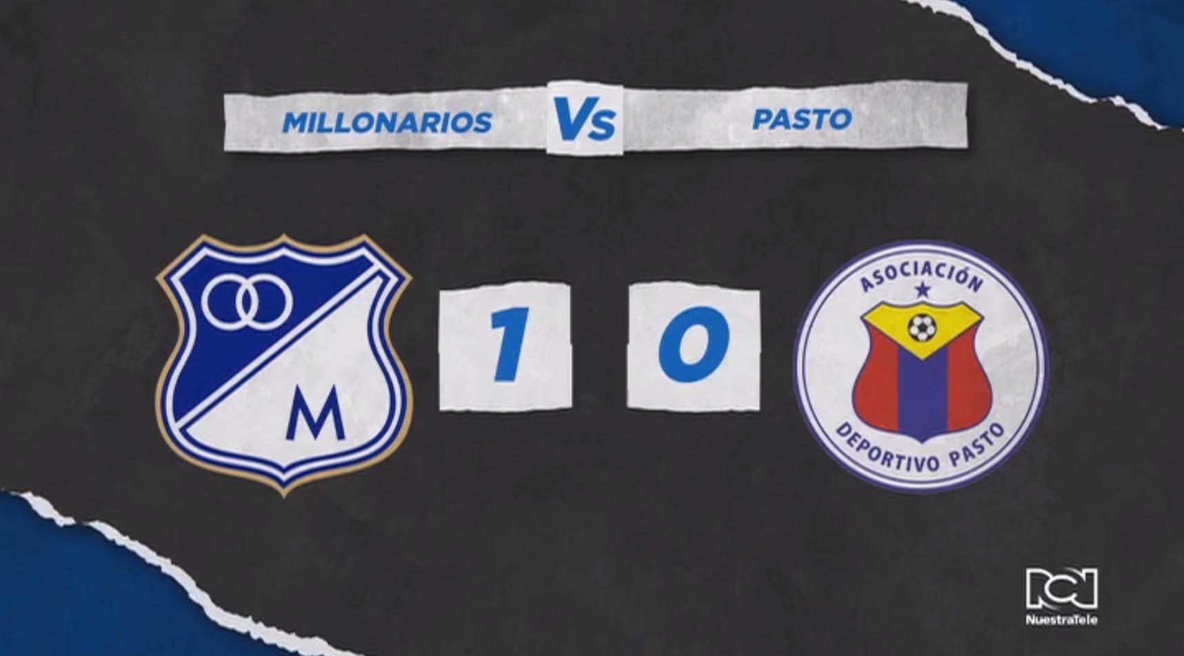 Millonarios inició la era Gamero con derrota frente a Deportivo Pasto
