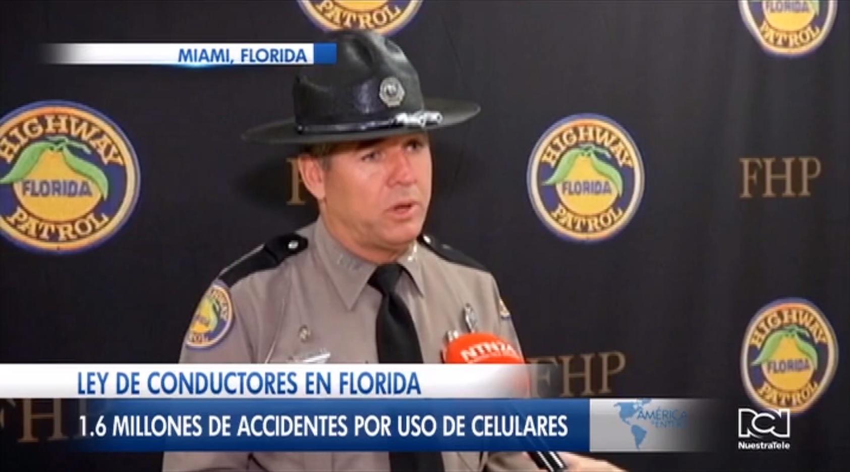 Conductores de la Florida empezarán a ser multados por enviar mensajes de texto mientras manejan