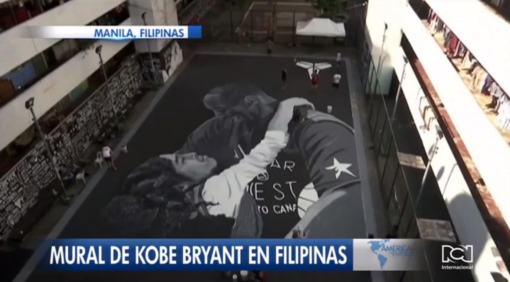 Mural de Kobe Bryant es centro de atención en la capital de Filipinas