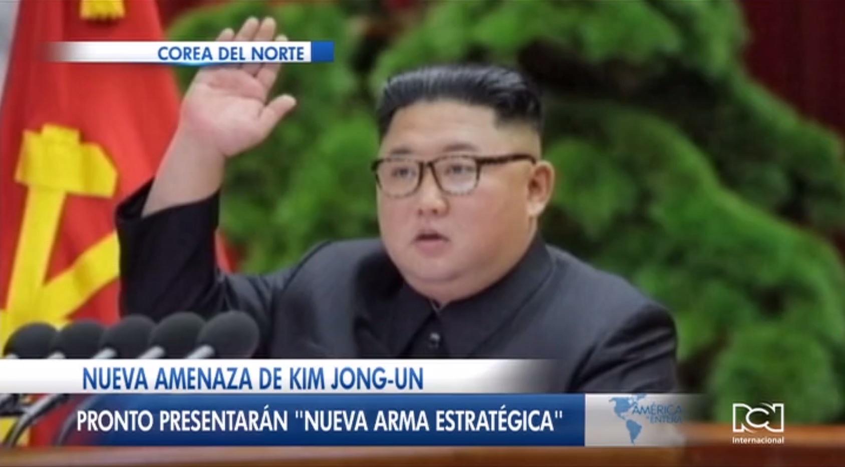 Kim Jong-Un anunció la creación de una nueva arma estratégica