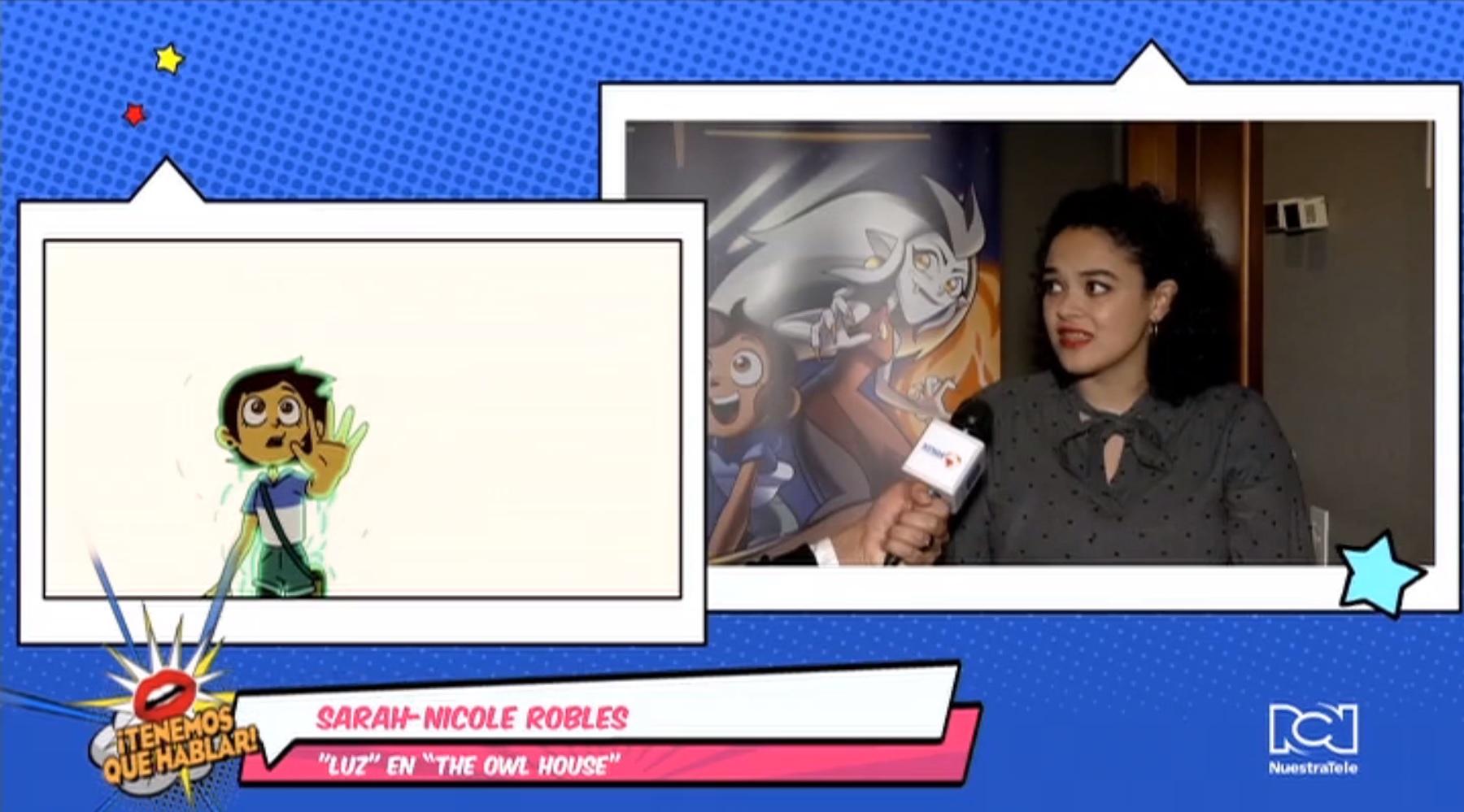 Sarah-Nicole Robles de su voz al personaje de Luz en la serie 'The Owl House' de Disney