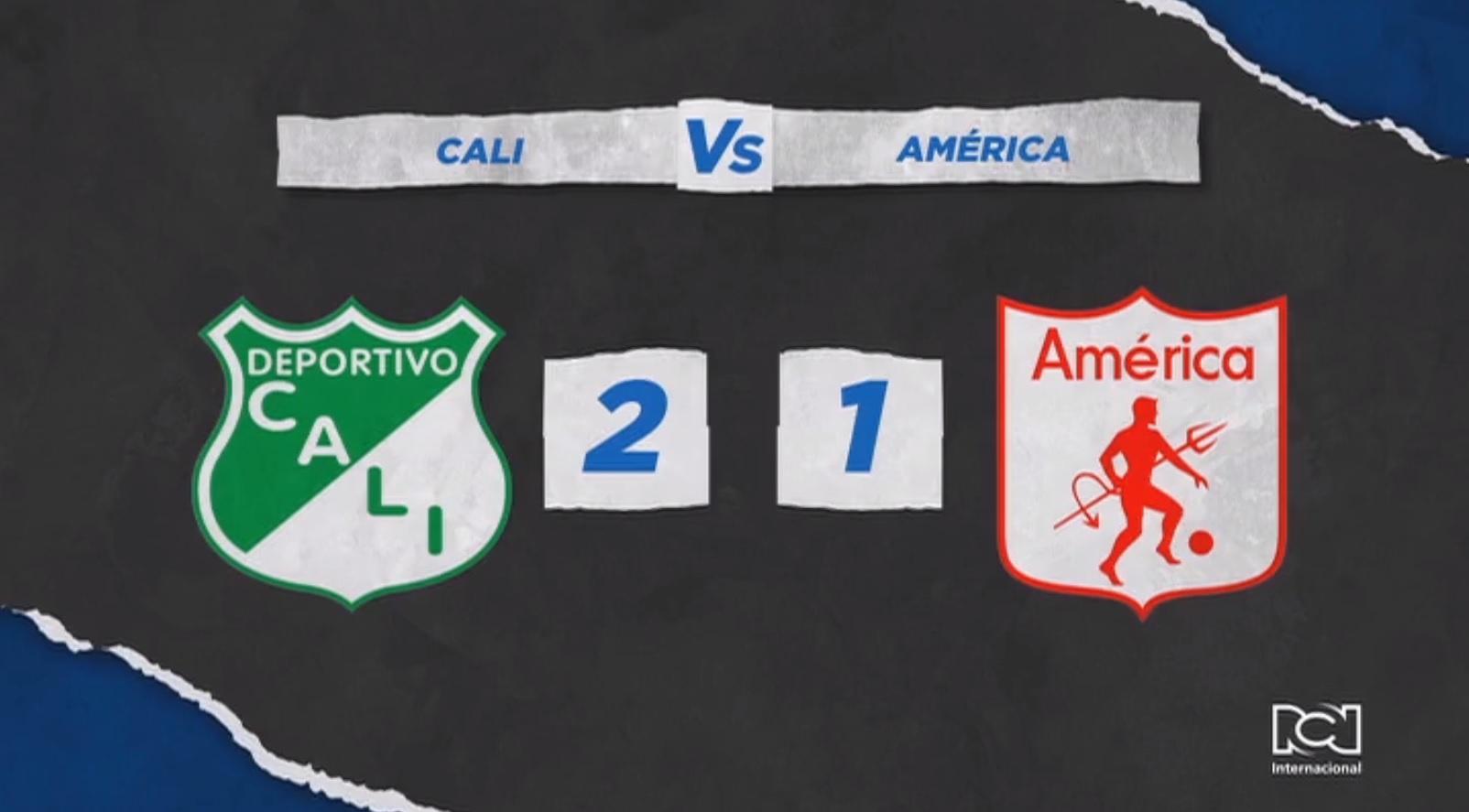 Deportivo Cali se quedó con el clásico 290 frente a un América que terminó dos expulsados