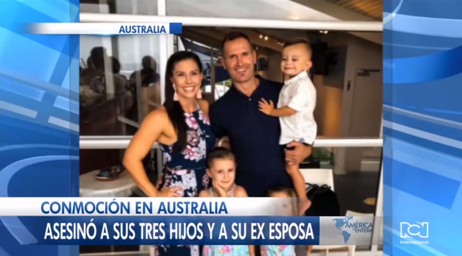 Exjugador de rugby asesina a sus tres hijos y a su exesposa en Australia