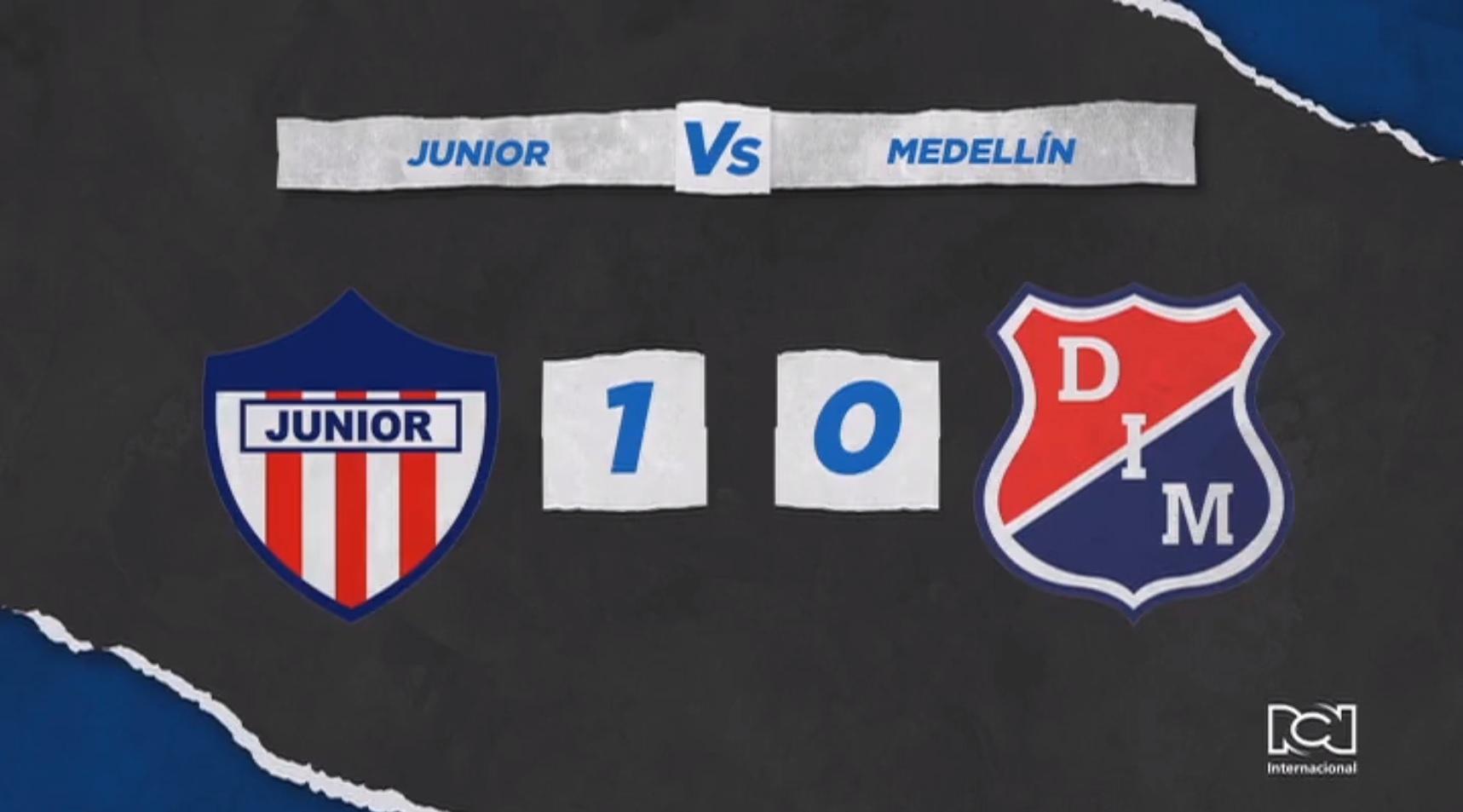Junior superó con lo justo a Independiente Medellín y sumó su segundo triunfo del año