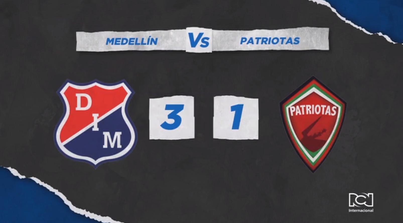 Independiente Medellín hizo respetar su localía y venció con categoría a Patriotas