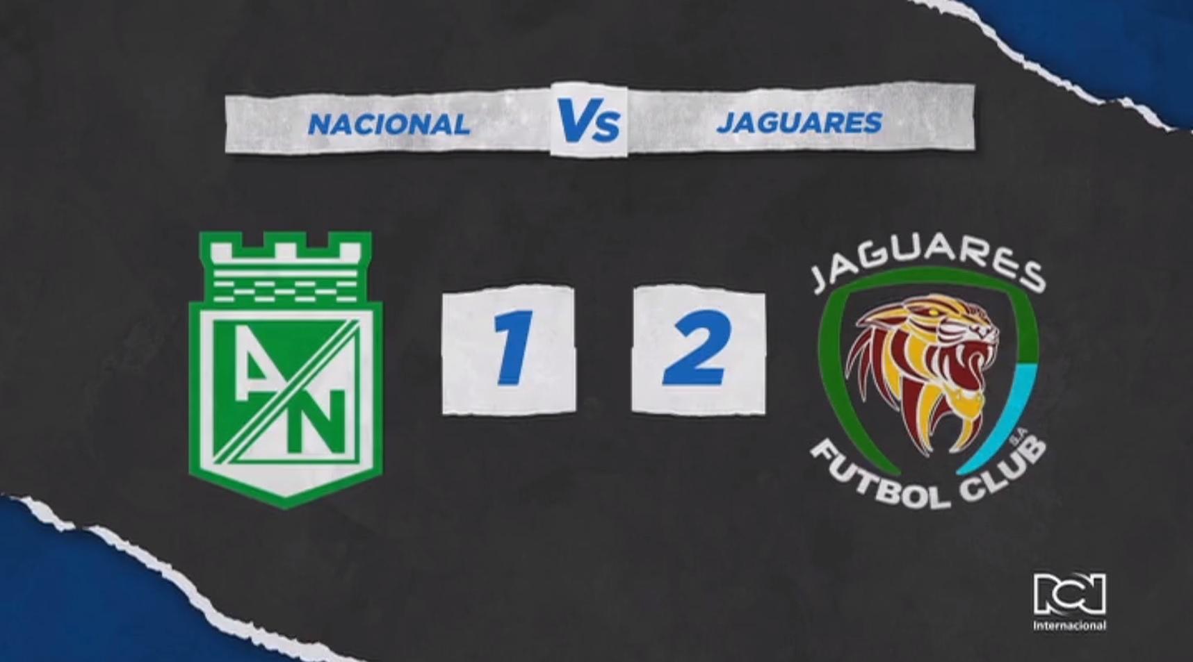 Jaguares dio la primera sorpresa del campeonato al derrotar a Nacional en el Atanasio
