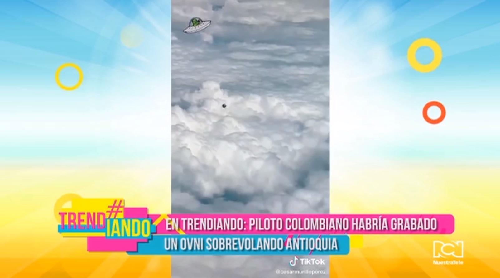 Piloto colombiano grabó un supuesto ovni sobre el cielo de Santa Fe de Antioquia