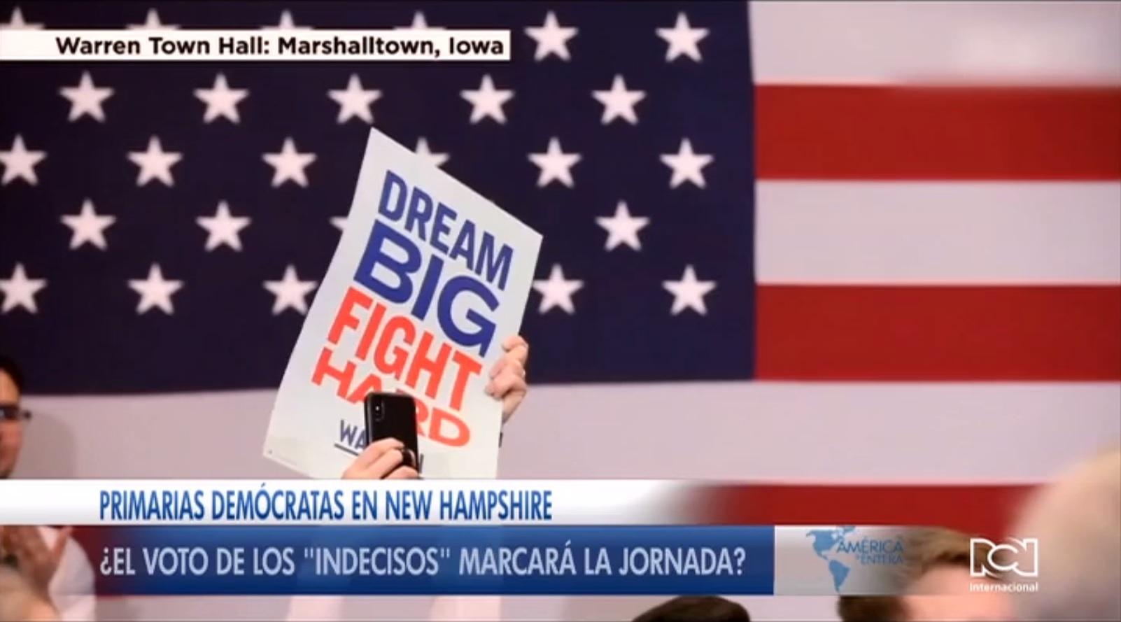 """Precandidatos demócratas buscan el voto de los """"indecisos"""" en New Hampshire"""