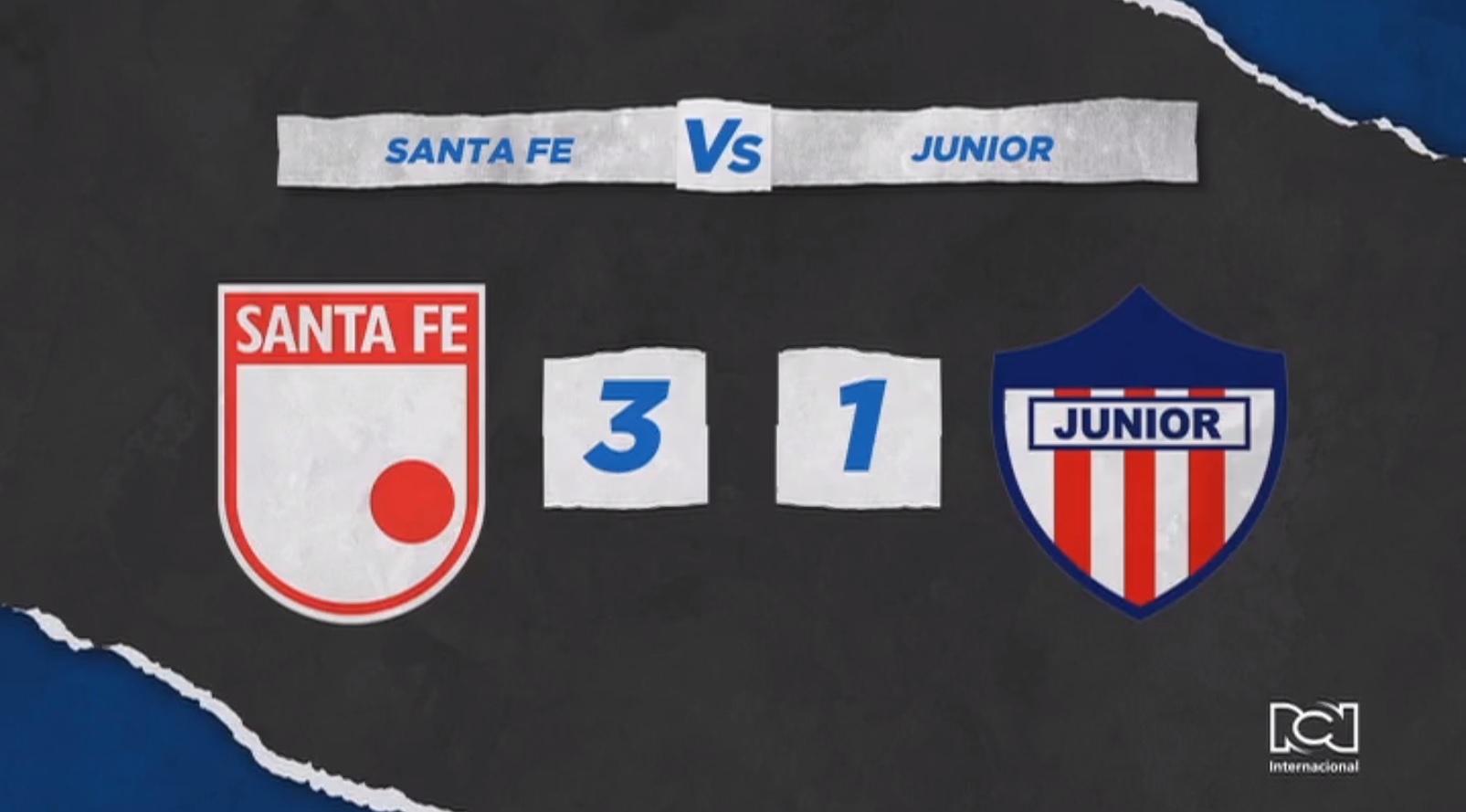 Independiente Santa Fe venció a Junior y obtuvo su primera victoria en la Liga BetPlay Dimayor
