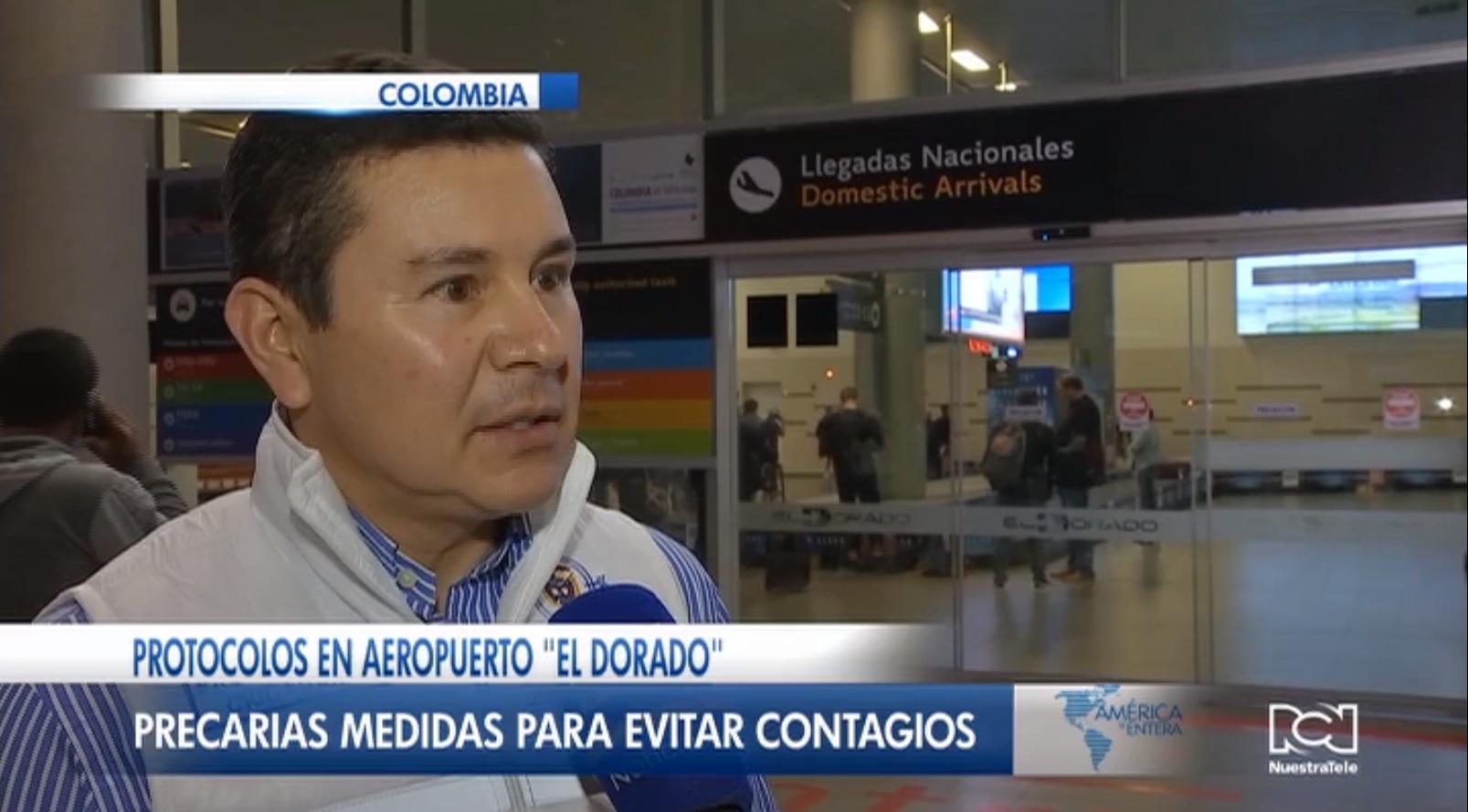Aeropuerto El Dorado no cumple los protocolos para prevenir el coronavirus