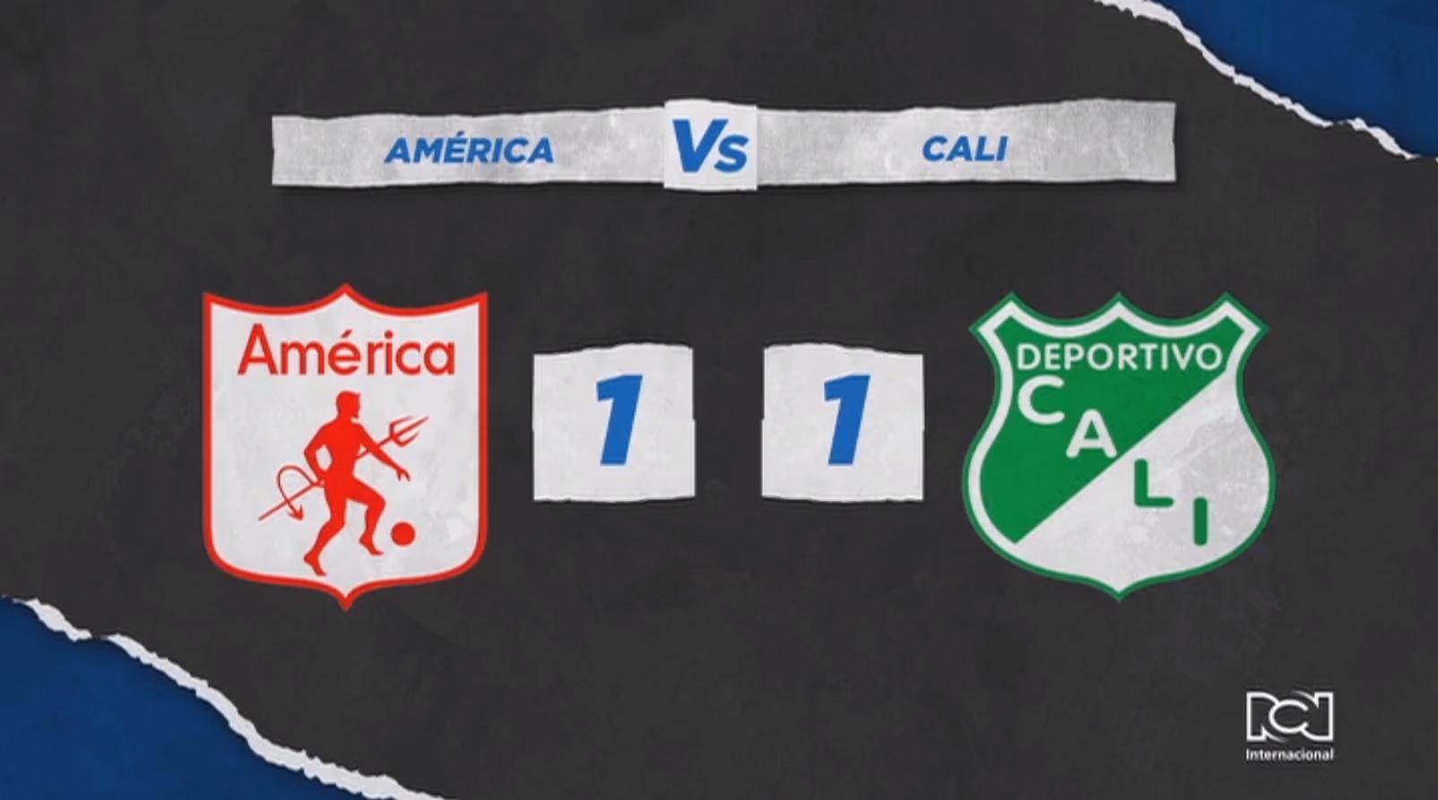Deportivo Cali rescató un valioso empate frente América en el Pascual Guerrero