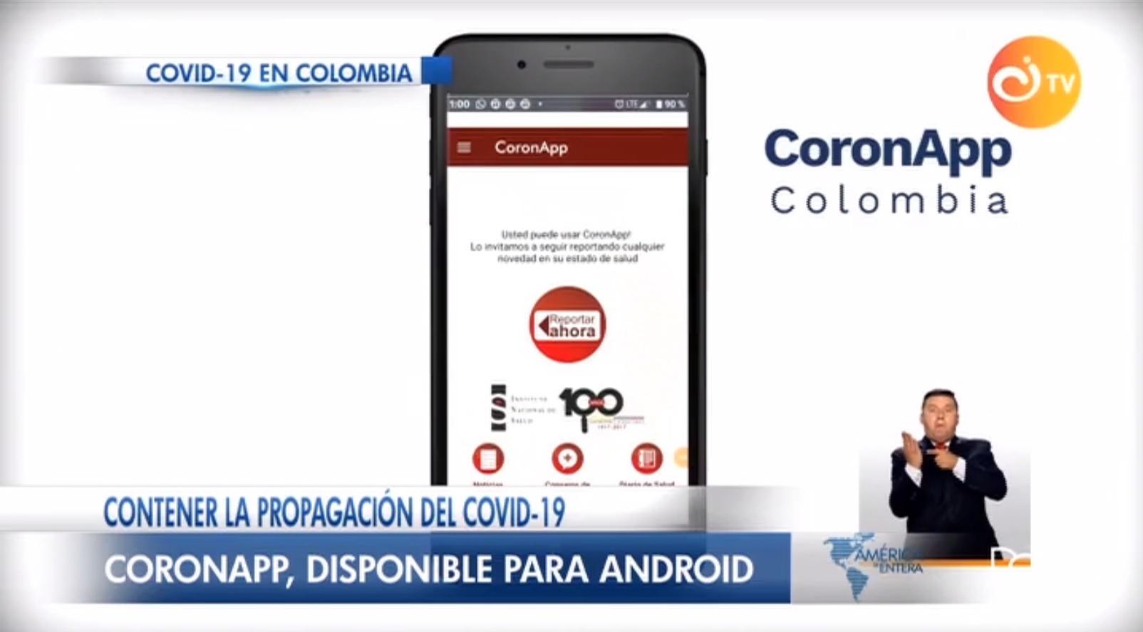 Colombia lanza línea de atención y aplicación móvil para atender dudas sobre el coronavirus