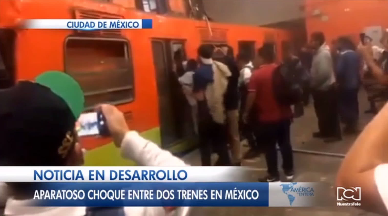 Choque de trenes deja un muerto y 41 heridos en México