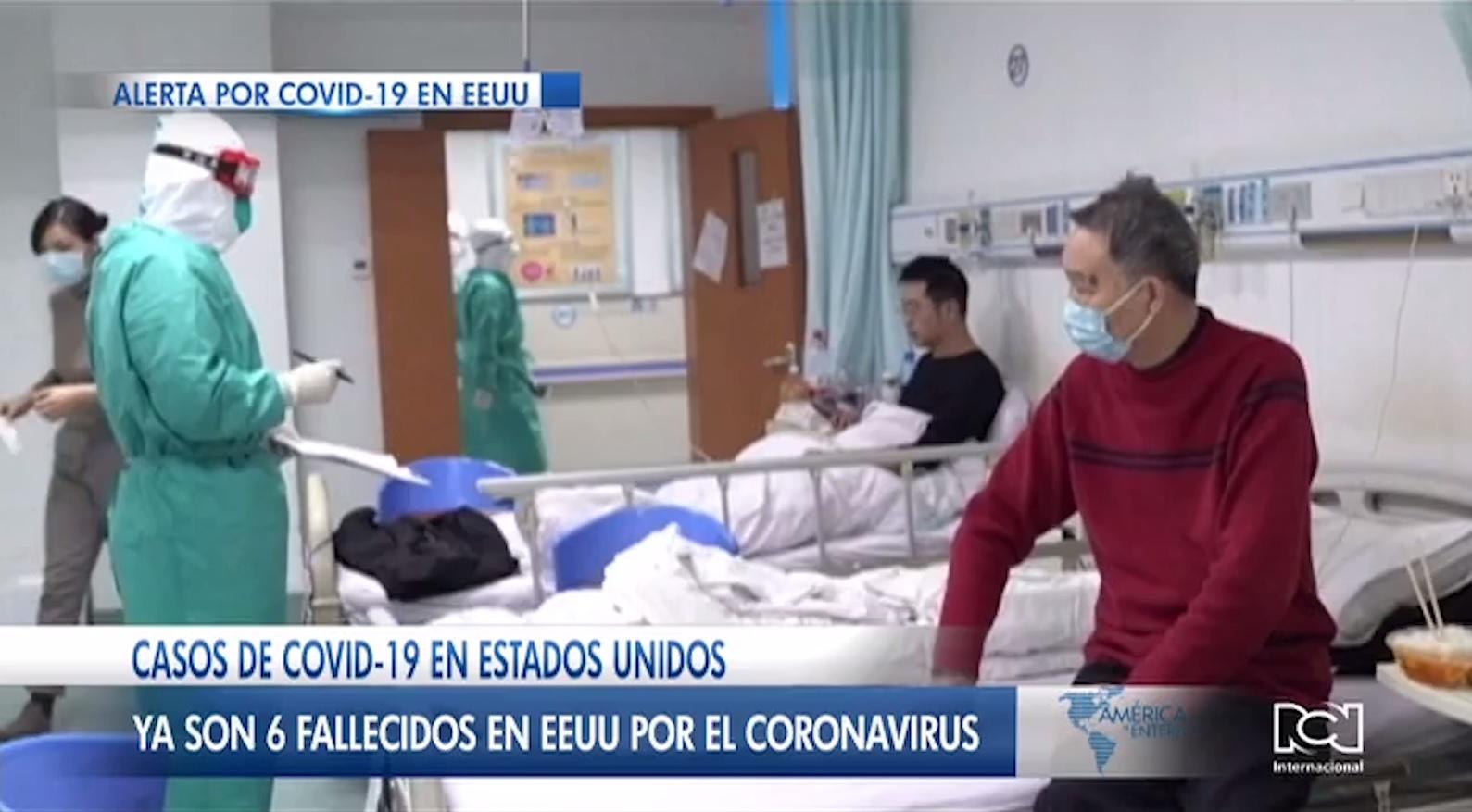 Elevan a seis e número de muertos por coronavirus en Estados Unidos
