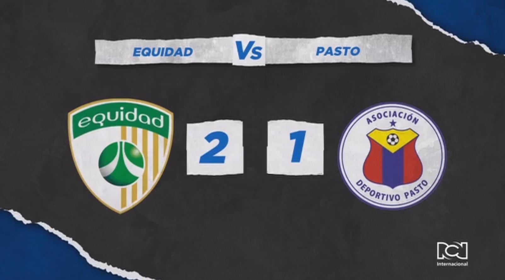 La Equidad le quitó el invitó al Deportivo Pasto al derrotarlo en la capital nariñense