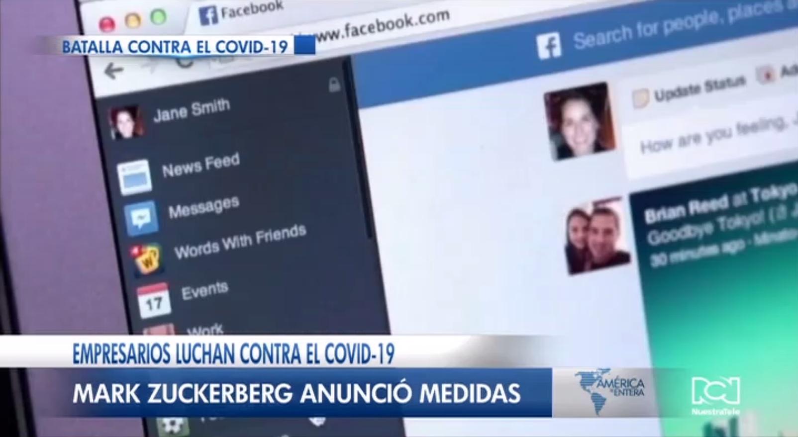 Facebook permitirá a la OMS hacer anuncios gratis para dar respuesta a información verdadera sobre el coronavirus