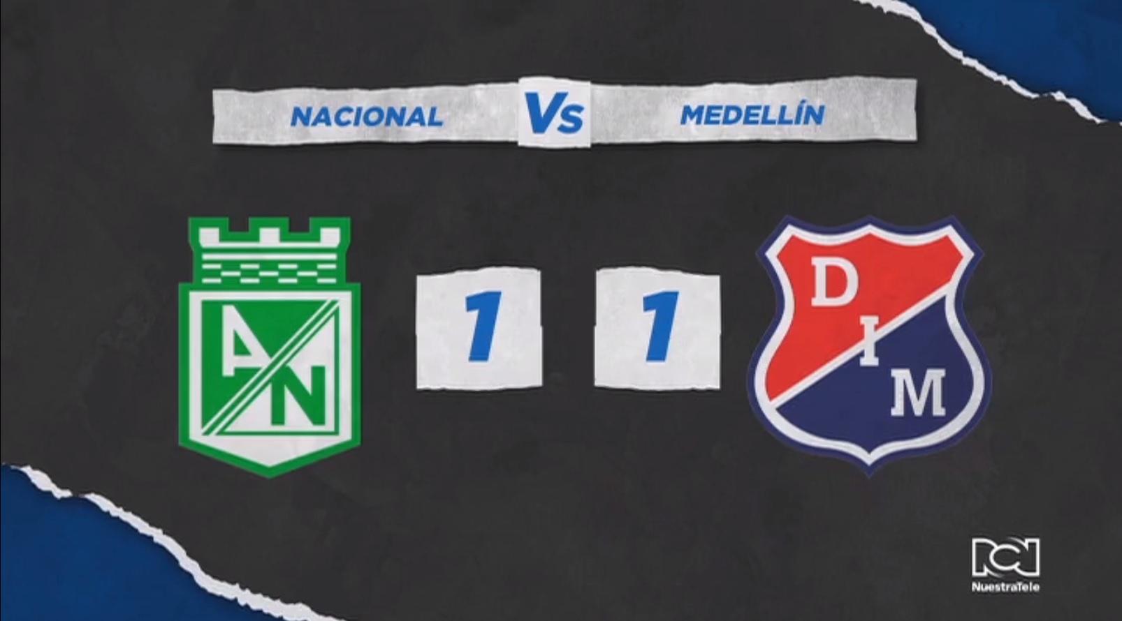 Independiente Medellín no se pudo sacar la espina y empató con Nacional en el clásico paisa 304