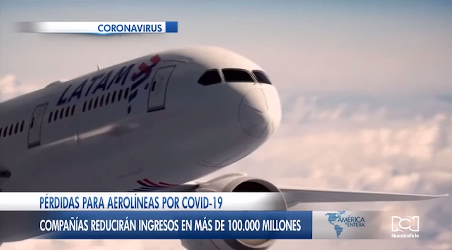 Aerolíneas perderán hasta U$D 113.000 millones por pánico causado por brote de coronavirus en 2020