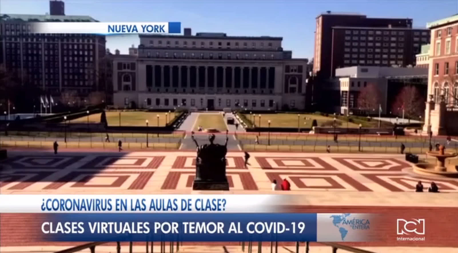 Universidades de Columbia y Princeton suspenden clases presenciales por amenaza de coronavirus