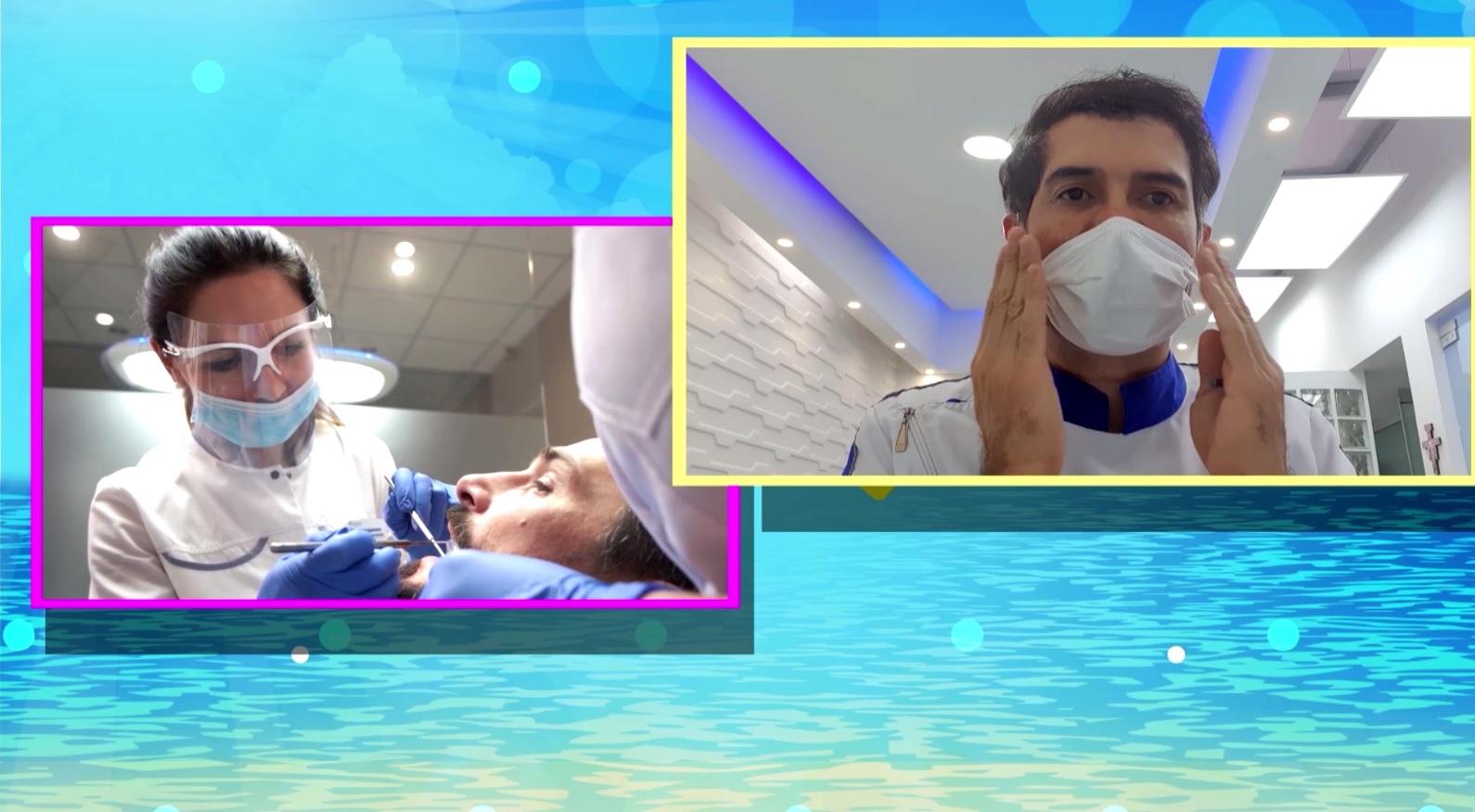 Odontólogo Juan Carlos Contreras enseñó cómo usar correctamente el tapabocas