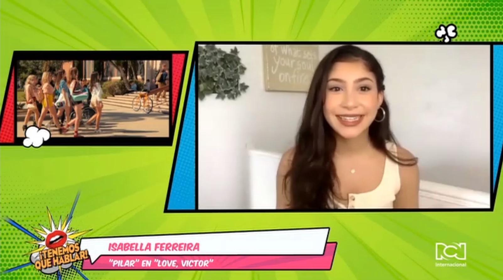 "Isabella Ferreira habló sobre el reto de interpretar a Pilar en la serie ""Love, Victor"" de Hulu"
