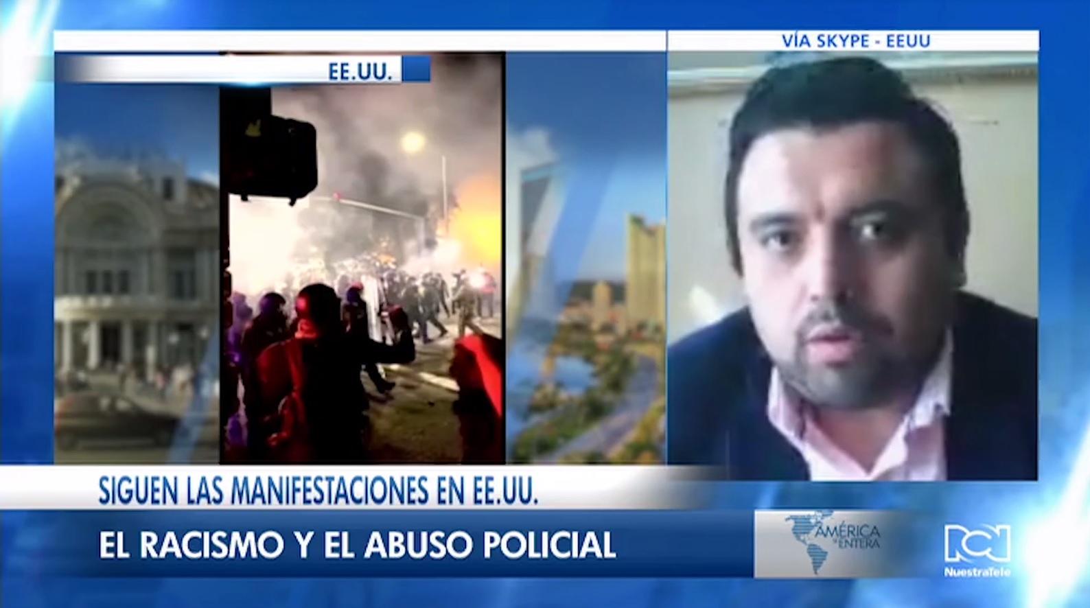"""""""La militarización en las calles lleva a que si ocurran disturbios"""": Analista Robert Valencia sobre las protestas raciales en Estados Unidos"""