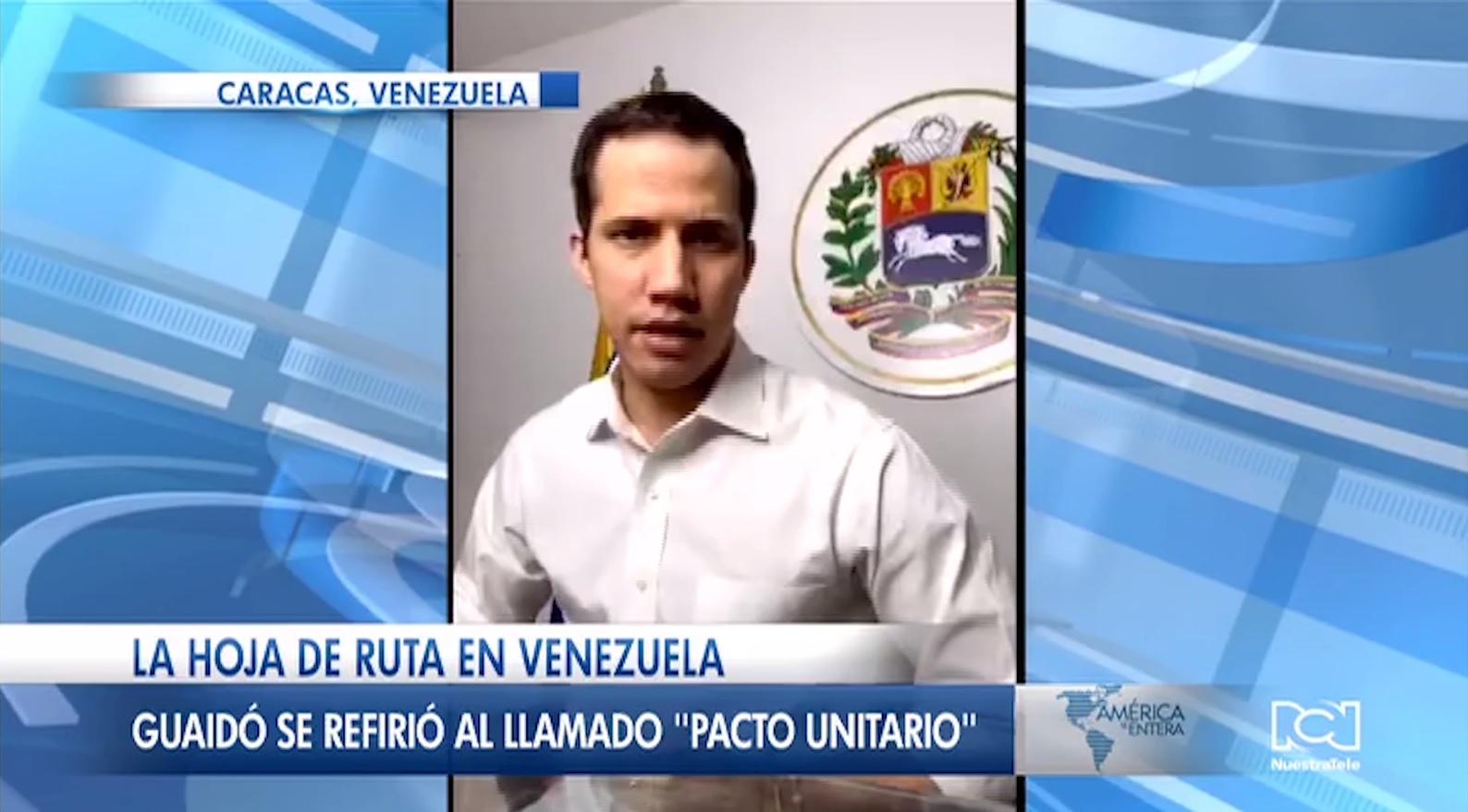 """Juan Guaidó propone crear un """"pacto unitario"""" para poner fin a la dictadura de Nicolás Maudro"""