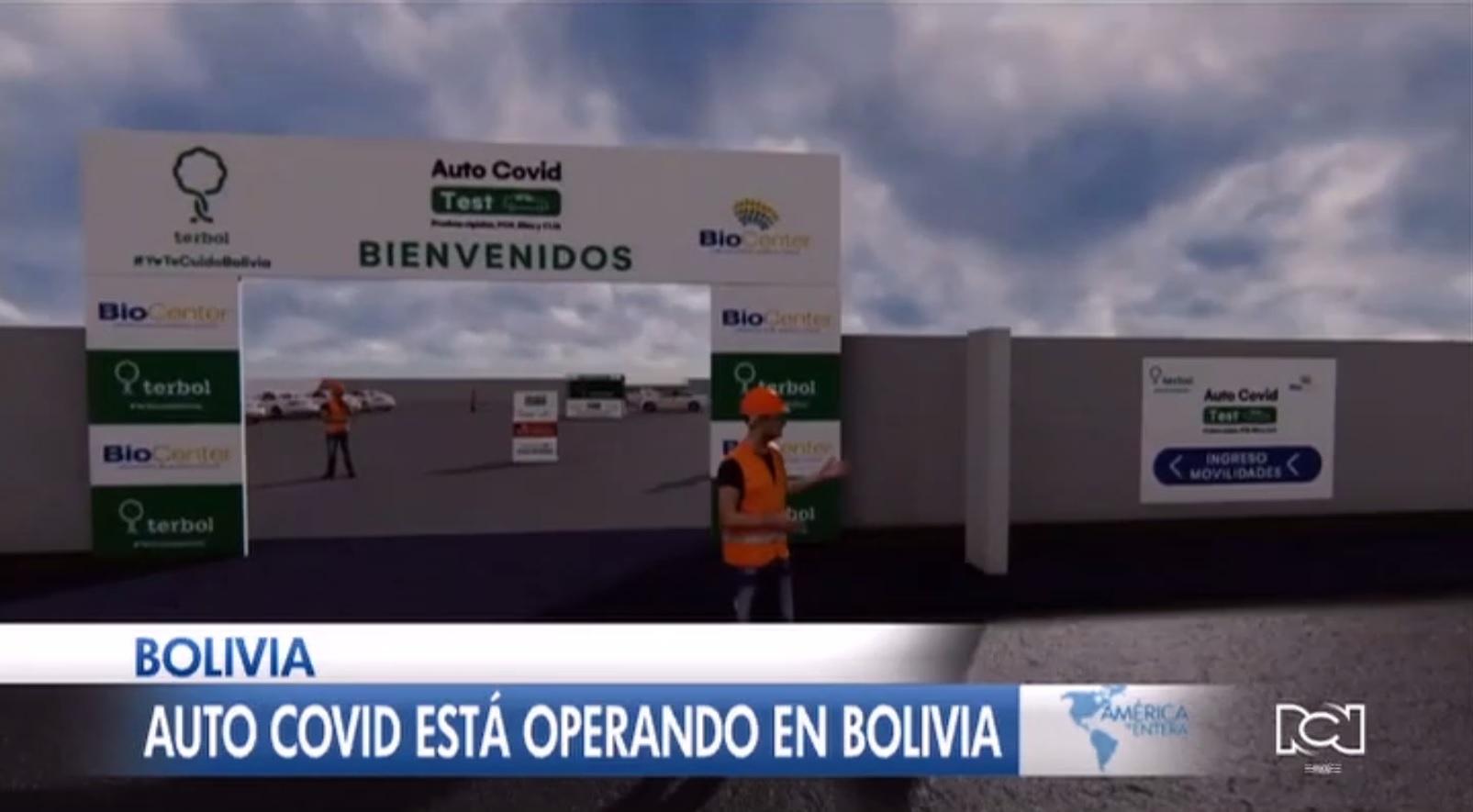 Bolivia inauguró el primer autoservicio para pruebas de Covid-19
