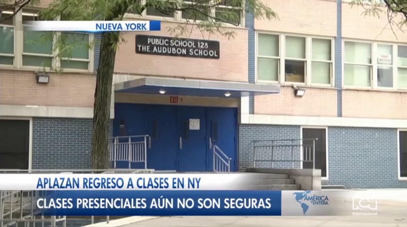 Nueva York aplazó la reactivación de clases presenciales
