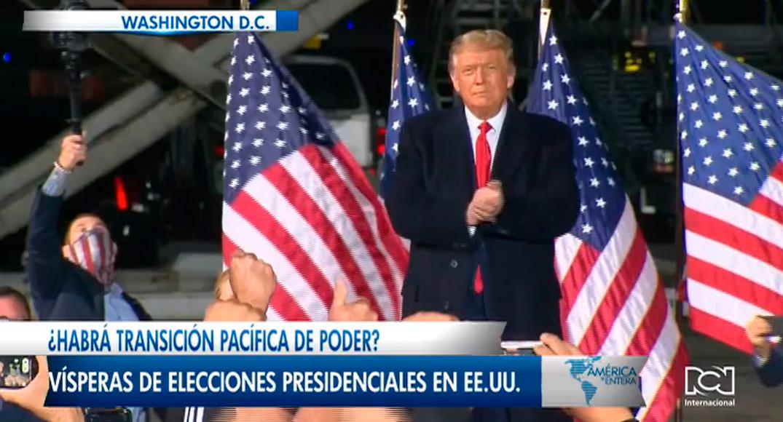 ¿Habrá transición pacífica de poder? Trump, desconfía de resultados electorales